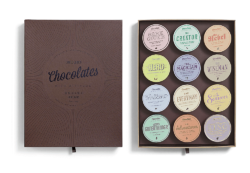 The name Chocolate with Attitude says it all, summing up the packaging idea of the Bessermachen Design Studio. A special flavour and a specific design for every type of person. Photo: Bessermachen Des