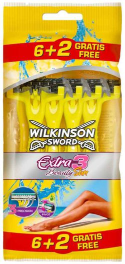 Disposable shavers are a good example of different prices for identical items. Extra3 Beauty Sun 6+2 © Wilkinson Sword GmbH